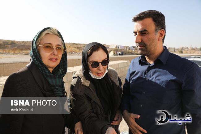 عکس های هنرمندان در بین زلزله زده های کرمانشاه