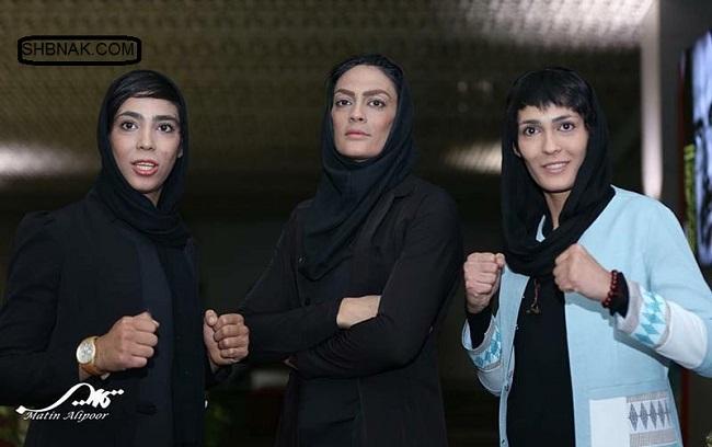 تصاویر خواهران منصوریان در اکران فیلم صفر تا سکو