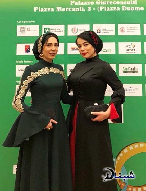 عکس های ملیکا شریفی نیا در جشنواره میلان