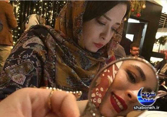 عکس های مهراوه و ملیکا شریفی نیا در کنار پدر و مادر