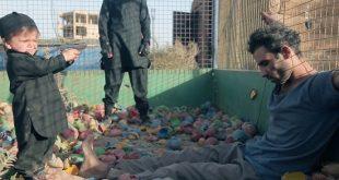 جلاد خردسال داعش در حال اعدام اسیر سوری