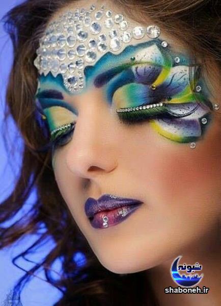 مد شدن آرایش های عجیب,مدل آرایش عجیب