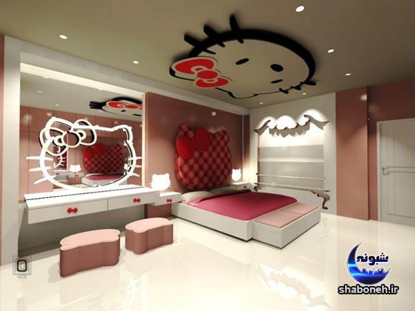 مدل های جدید دکوراسیون اتاق خواب دخترانه