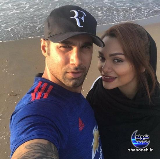 عکس های محسن فروزان و همسرش,تصاویر نسیم نهالی