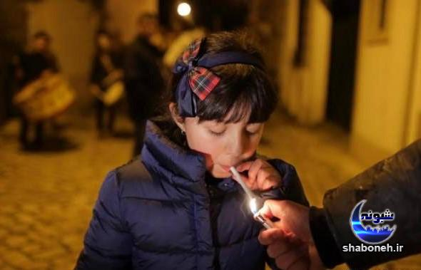 جنجال سیگار کشیدن کودکان