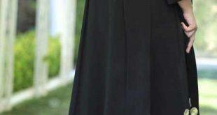 مدل مانتو مجلسی مشکی بلند برای سال نو