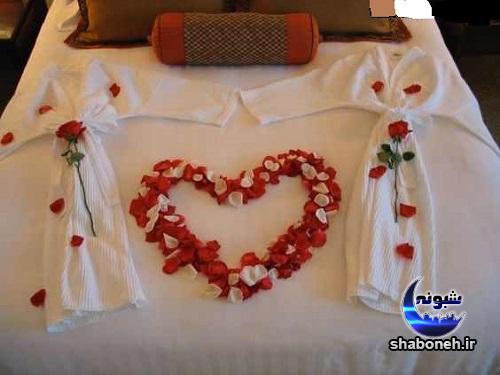 مدل تزئین تخت عروس و داماد در شب زفاف