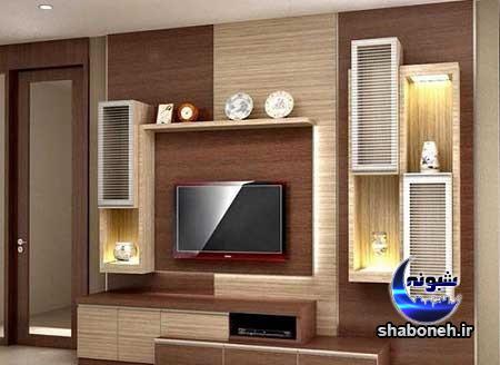 مدل جدید میز تلویزیون دیواری و زمینی برای عید