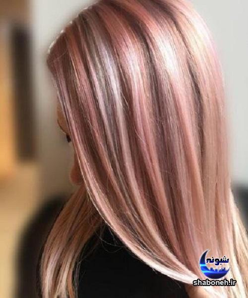 رنگ موی جدید رزگلد رنگ موی لاکچری برای عید