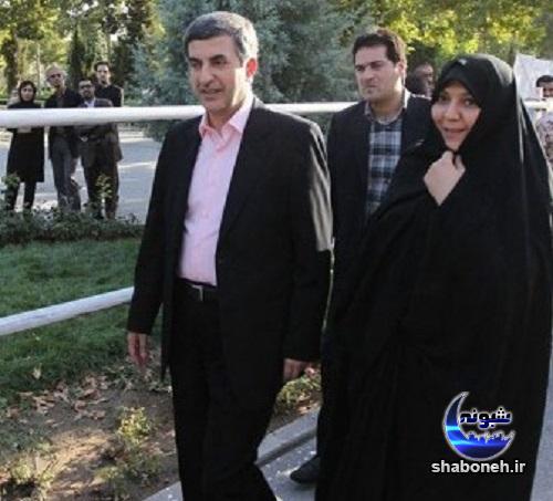 بیوگرافی اسفندیار رحیم مشایی و همسرش
