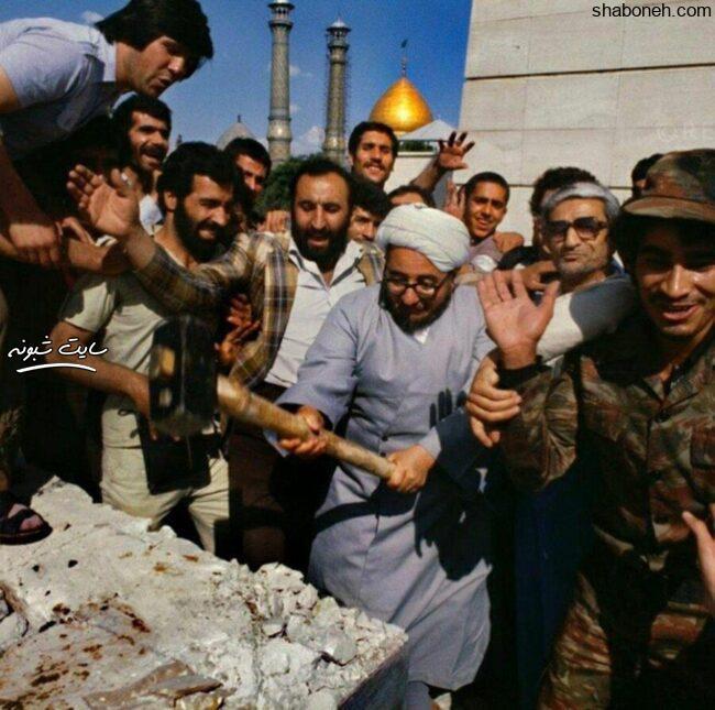 تخریب آرامگاه قبر رضاخان توسط خلخالی