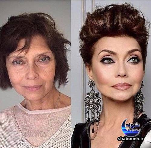 چهره قبل و بعد آرایش خانم ها