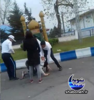 کتک زدن پسر جوان در انزلی توسط پلیس راهور