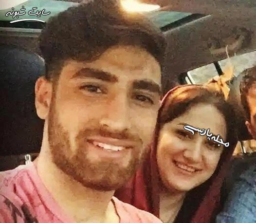 علیرضا جهانبخش فوتبالیست و خواهرش