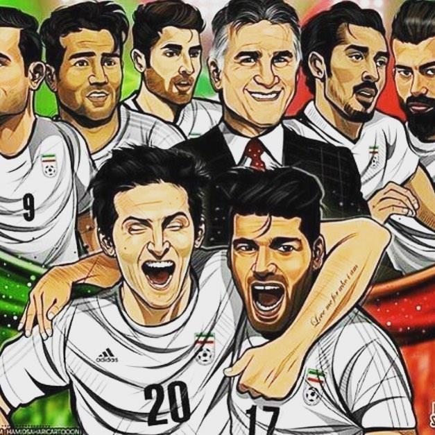 عکس نوشته تیم ایران برای پروفایل