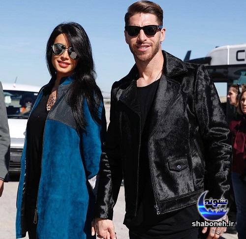 عکس سرخیو راموس و همسرش پیلار