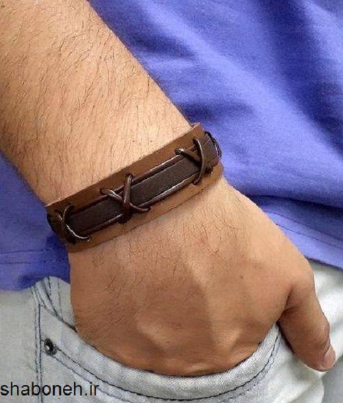 دستبند چرم مردانه و پسرانه در مدل های جدید