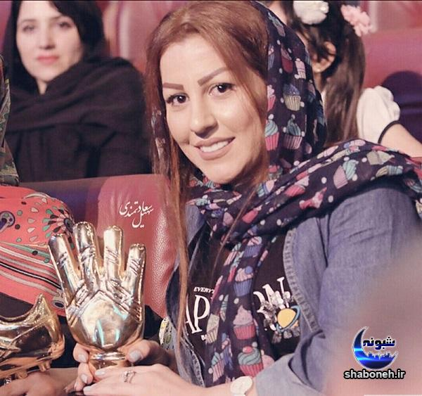 همسر علیرضا بیرانوند در جشن برترین های لیگ