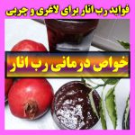 فواید رب انار و خوردن روزانه یک قاشق رب انار + روش مصرف