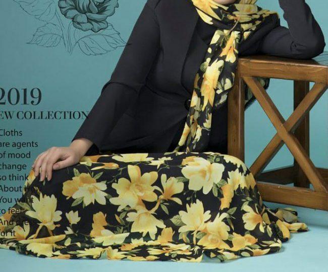 مدل لباس مراسم خواستگاری + مدل ست کت و دامن حریر گل گلی