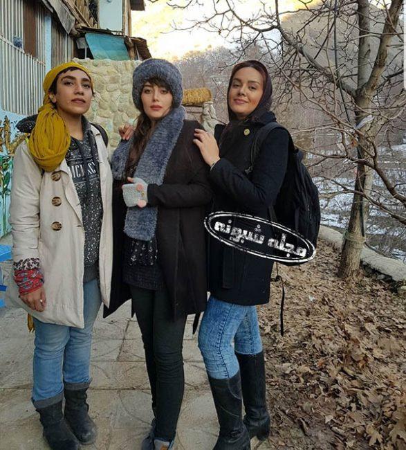 عکس های بی حجابی هدیه بازوند بازیگر نقش روژان در سریال نون خ