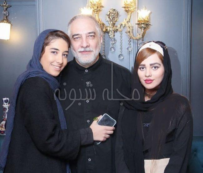 عکس دختران ایرج نوذری و همسرش