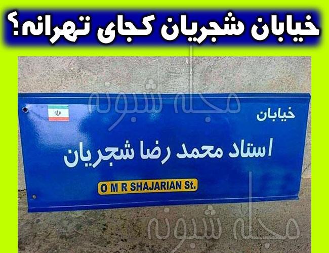 خیابان شجریان در تهران کجاست؟ + آدرس خیابان آدرس محمدرضا شجریان