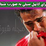 سیلی هوادار به صورت مسعود شجاعی +حواشی بازی تراکتورسازی پیکان