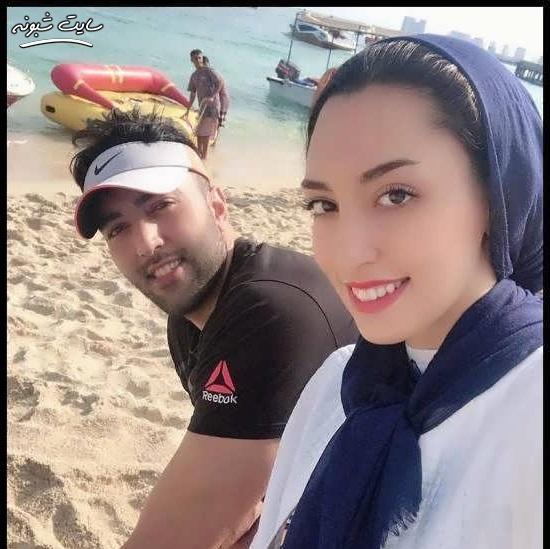 عکس بدون حجاب کیمیا علیزاده همسر حامد معدنچی