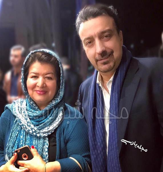 عکس علیرضا امیرقاسمی مدیر شبکه طپش در کنار نرگس آبیار