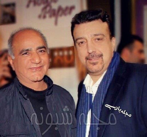 عکس علیرضا امیرقاسمی مدیر شبکه طپش و پرویز پرستویی