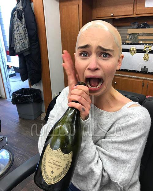 عکس لختی امیلیا کلارک بازیگر نقش دنریس تارگرین در بازی تاج و تخت