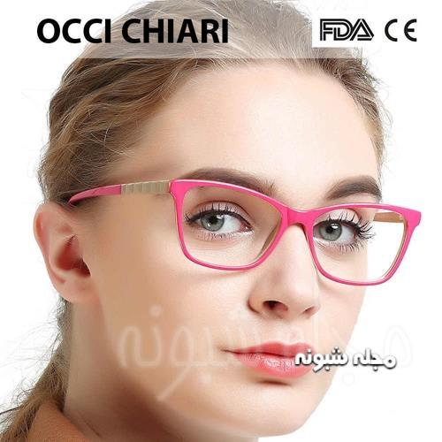 فریم صورتی رنگ عینک