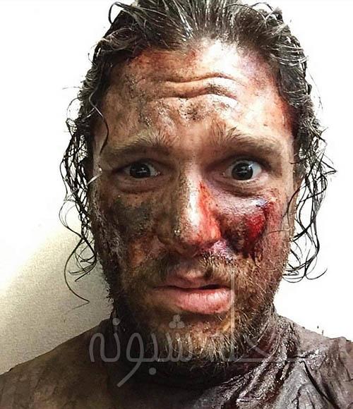 عکس جالب کیت هرینگتون بازیگر نقش جان اسنو در گیم آف ترونز