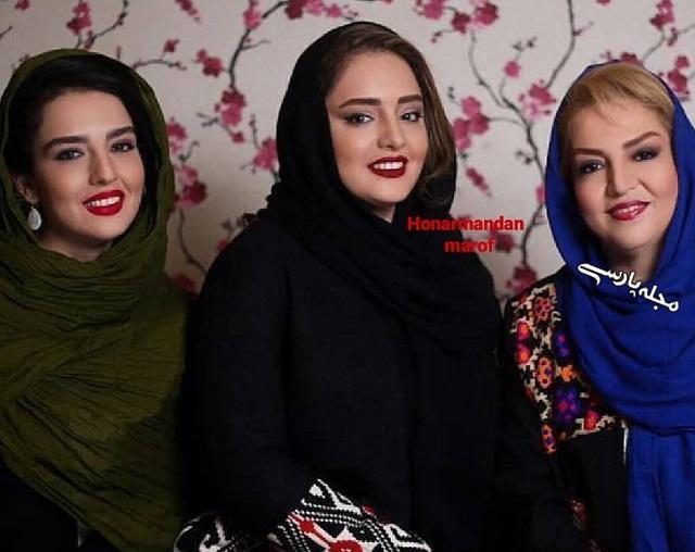 سارا و نرگس محمدی در کنار مادرشان