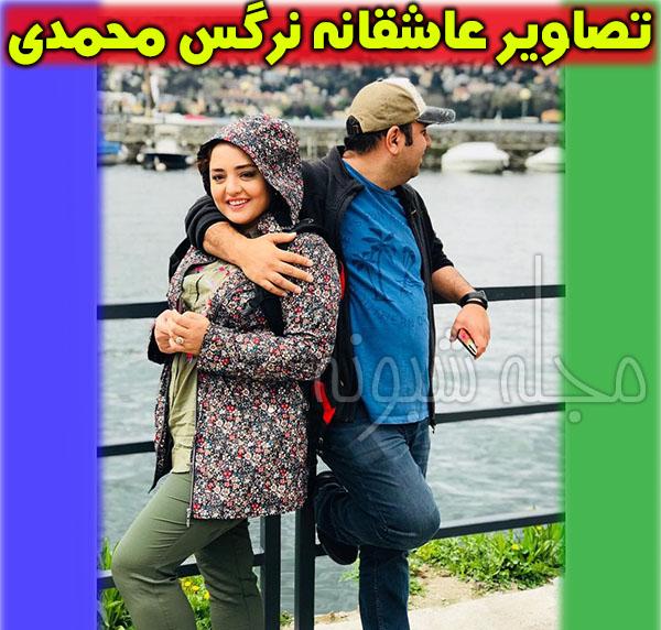 عکس عاشقانه علی اوجی و همسرش نرگس محمدی