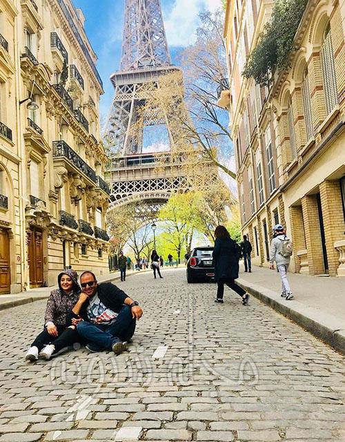 نرگس محمدی و همسرش علی اوجی در پاریس و خارج از کشور