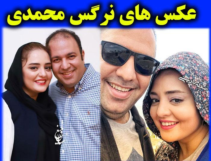 عکس های بدون حجاب نرگس محمدي و همسرش علي اوجي