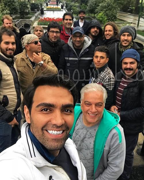 سلفی شهاب شادابی بازیگر سریال عروس تاریکی