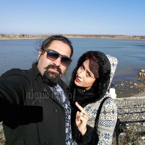 همسر شکوفه عزیزی | بیوگرافی شکوفه عزیزی عروسک گردان و همسرش