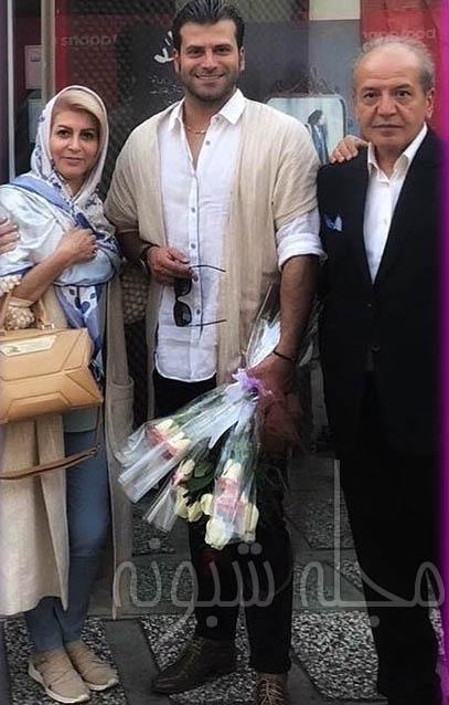 عکس پدر و مادر روزبه حصاری