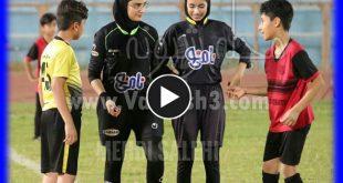 داوران زنان برای بازی پسران در بوشهر | زنان داور فوتبال پسران در بوشهر
