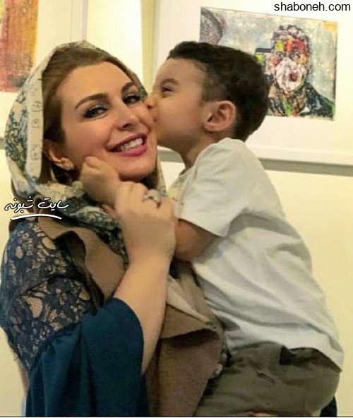 عکس پرواز پسر و فرزند ماه چهره خلیلی بازیگر