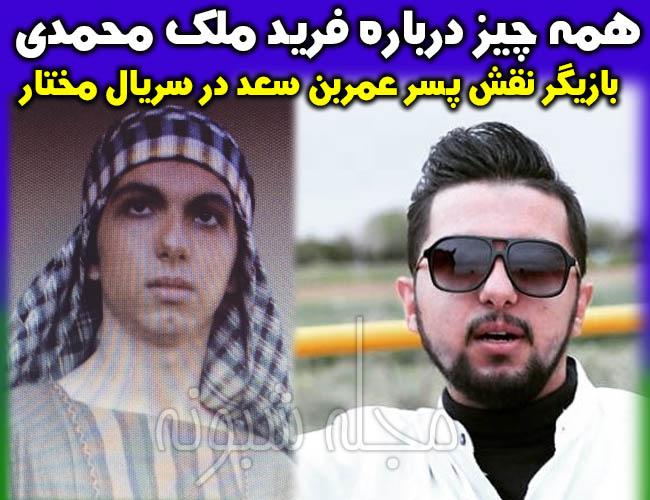 فرید ملک محمدی بازیگر نقش پسر عمر سعد در سریال مختارنامه کیست؟ +بیوگرافی