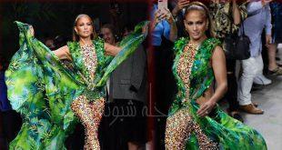 مدل لباس سبز جنیفر لوپز و مدل لباس جنگل جنیفرلوپز