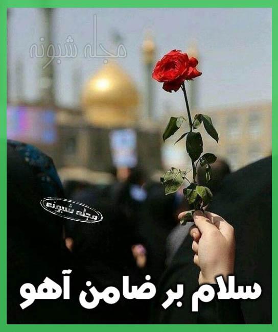 تسلیت شهادت امام رضا و یا ضامن آهو + پروفایل و عکس نوشته و استیکر