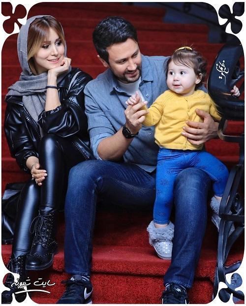 عکس خانوادگی شاهرخ استخری و همسرش سپیده بزمی پور