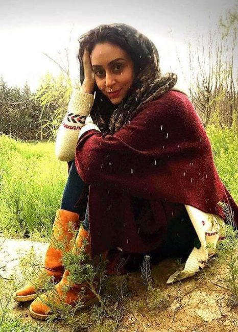 بازیگر نسرين در به رنگ خاک   عکسهای فریبا امینیان بازیگر نقش نسرین سریال به رنگ خاک