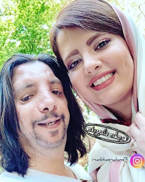 مهسا ایرانی (مهسا قنواتی) و همسرش فرهاد ایرانی