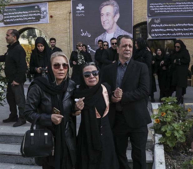 تصاویر فلورا سام در تشییع همسرش مجید اوجی